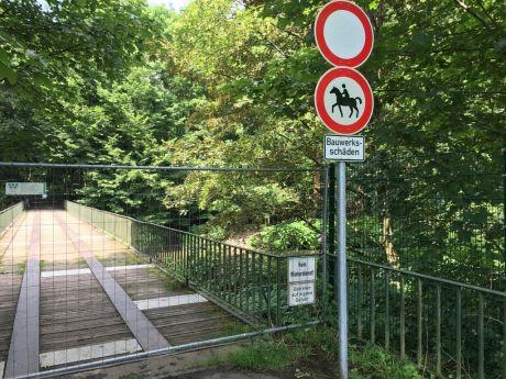 Brückensperrung: Foto: Stadtwerke Solingen GmbH