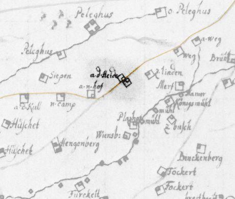 a. d. Heide: Karte von Ploennies aus dem Jahre 1715