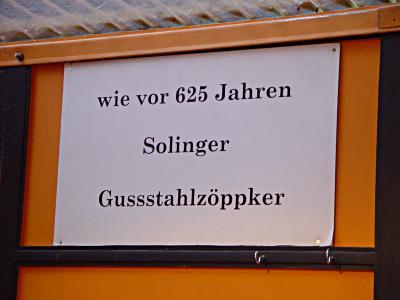 wie vor 625 Jahren: Solinger Gussstahlzöppker