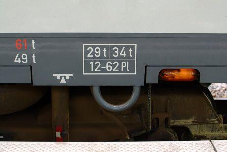 Gewichts-Beschriftung am Müngstener 928: nicht angetriebene Einheit