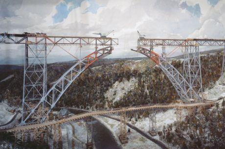 Müngstener Brücke als Diorama im Deutschen Museum: Foto: (c)Deutches Museum München