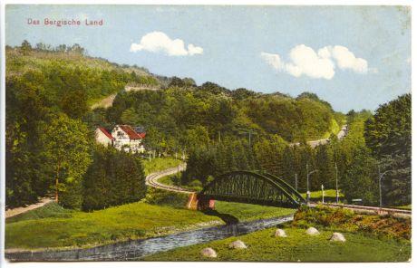 die Brücke auf einer alten Postkarte