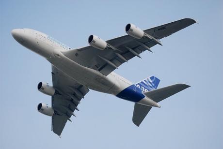 Airbus A380: vierstrahliges Großraumflugzeug des europäischen Flugzeugherstellers Airbus S. A. S