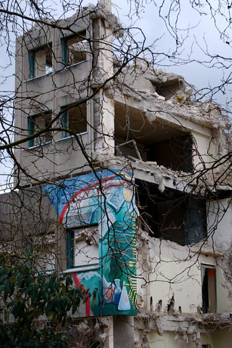 Die Reste des Solinger Polizeigebäudes