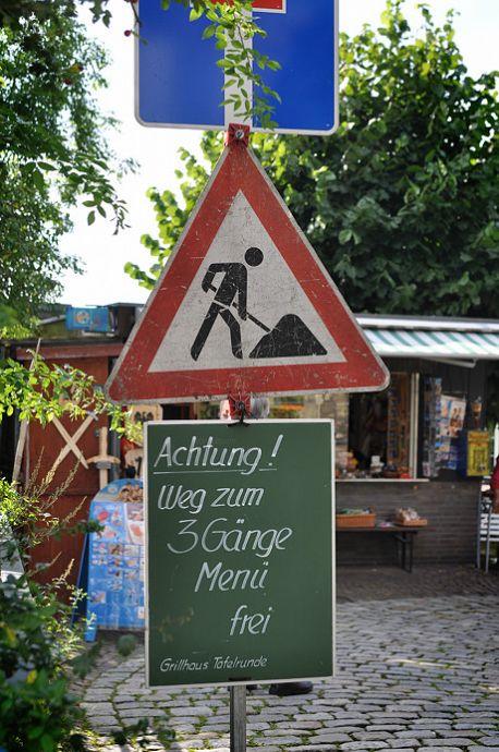 Achtung!: Weg zum 3 Gänge Menü frei