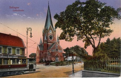 Martin-Luther-Kirche: historische Postkarte, Verlag unbekannt (um 1915)