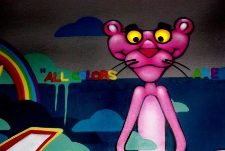 Graffito in der Hinterhofzufahrt