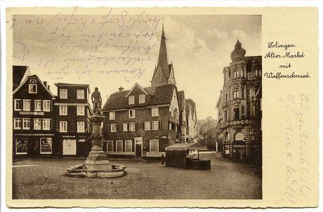Alter Markt, Blickrichtung Stadtkirche: Bromsilber-Imitation, 11.Juni 1939 verfasst