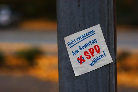 Nicht vergessen: Am Sonntag SPD wählen!