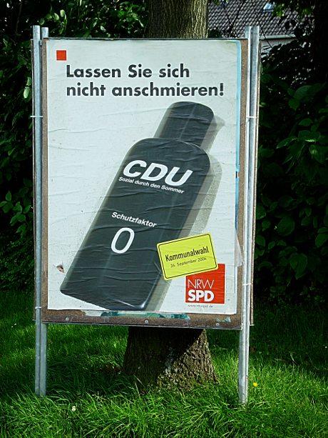 Angeschmiert: Plakat der Landtagswahl 2004
