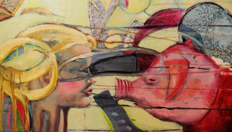 Bildausschnitt aus einem Werk der Solinger Künstlerin Anja Kreitz