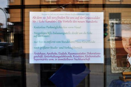 Bis zu 10. Juli 2013 ist unsere Adresse Kurfürstenstrasse 1, ABER!