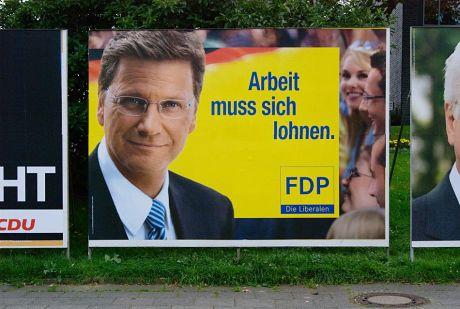 Ihre Arbeit muss sich wieder lohnen: Wahlplakat der FDP zur Bundestagswahl 2009