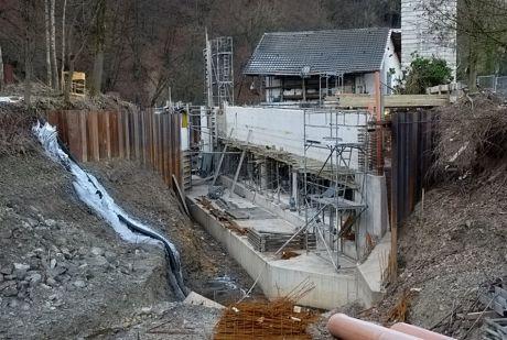 frostige Baustelle am Auerkotten