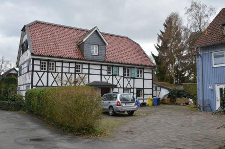 Gutshaus des Hofes Höhe von etwa 1745