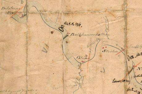 Kartenausschnitt um 1820