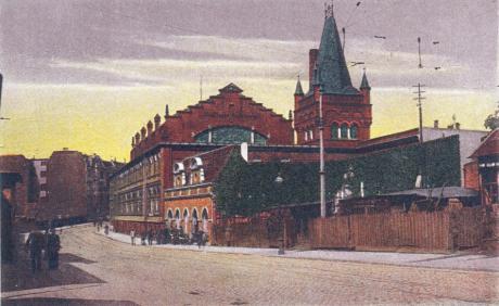 Städtische Badeanstalt: SOLINGEN, Birkerstraße (Verlag Oskar Stüllenberg, Solingen - Kunstverlag Max Biegel, Elberfeld)