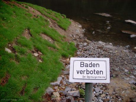 Baden verboten  Der Oberbürgermeister: aus dem Jahre 2006, Anfang  August