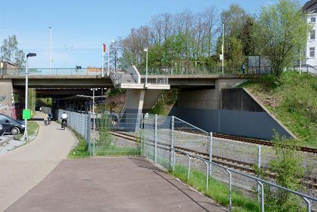 Bahnhof Solingen-Mitte: Graffiti entfernt