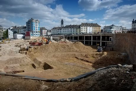 Baugrube am Neumarkt