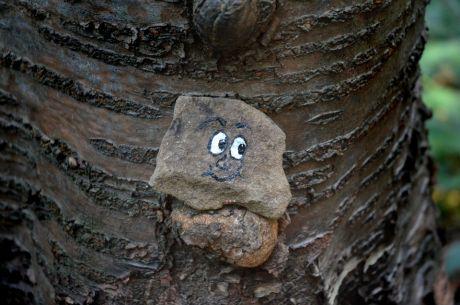 Waldgeist auf Baumnase