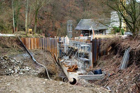 Winterpause an der Baustelle Auer Kotten?
