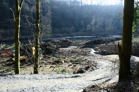 Statt Naturschutzgebiet nun Baustelle