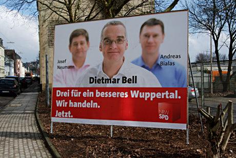 Dietmar Bell: Drei für ein besseres Wuppertal. Wir handeln. Jetzt.