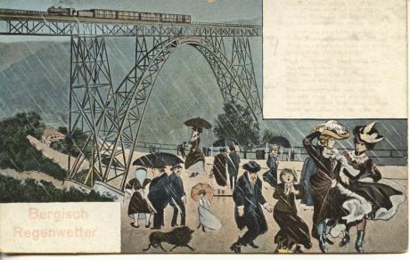 Bergisch Regenwetter: (Niems Postkarten-Verlag, Elberfeld um 1920)