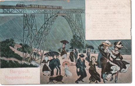 Bergisch Regenwetter: Niems Postkartenverlag, Elberfeld -- vermutlich in den 1920er Jahre entstanden