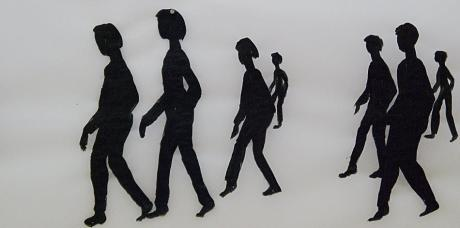 Besucher: Fragment aus einer Installation von Duda Voivo