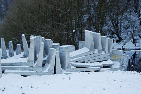 Keine Eisschollen: Beton-Schollen