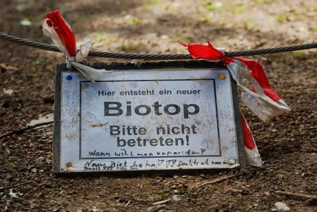 Biotop: Bitte nicht betreten !