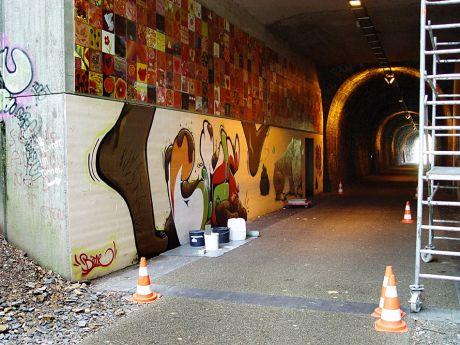 birne - Tunnelgraffito
