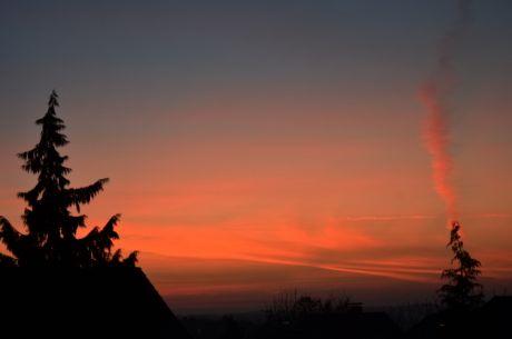 Blaue Stunde: vor Sonnenaufgang