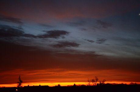 Blaue Stunde am Morgen