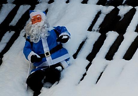 Blauer Weihnachtsmann: am Pfaffenberg