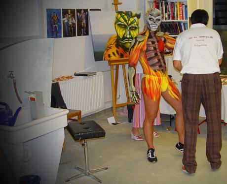 Bodypainting 2006 im Atelier Régis Noël