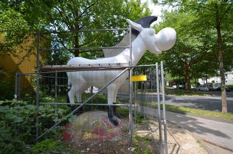 Böcki: ohne Regenmantel