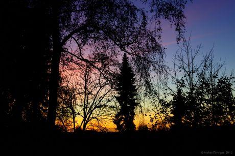 bonbonfarbener Sonnenuntergang
