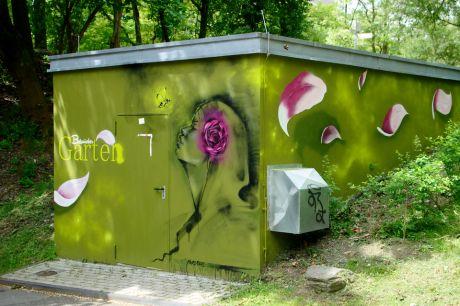 Am Eingang Botanischer Garten Solingen (Frankfurter Damm): Juni 2013