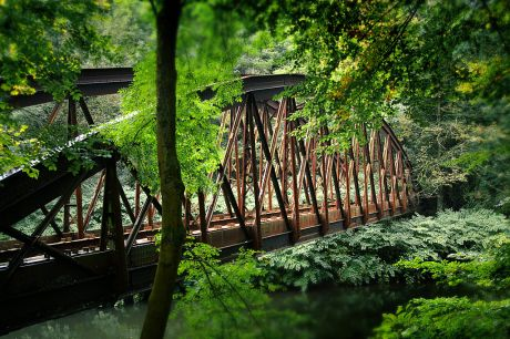 Die Brücke der ehemaligen Ronsdorf-Müngstener Eisenbahn (RME): (Foto 7.10.2009)