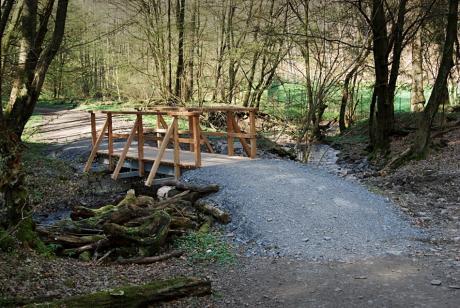 Holzbrücke über den Hammersbach