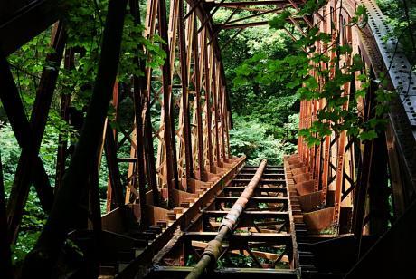 Bogenbrücke: der ehemaligen Ronsdorf-Müngstener Eisenbahn