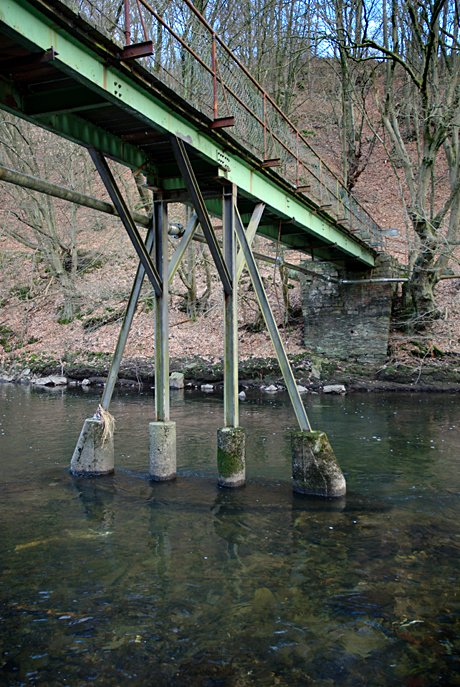 Brücke Papiermühle - seit 2004 gesperrt