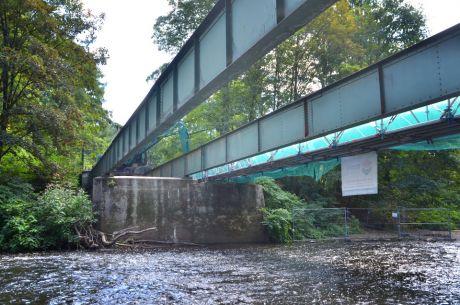 Rückbau Wupperbrücke in Strohn: am Solinger Tierheim