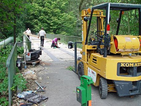 Brückenrenovierung: September 2004