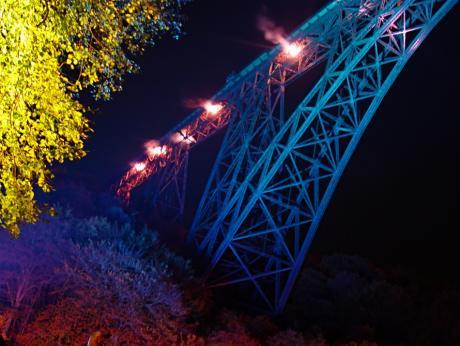 Müngstener Brücke: Illumination Brückenzauber im Jahre 2006