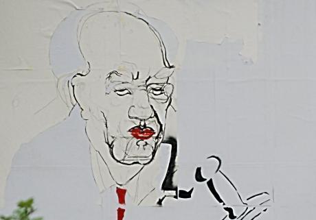 Detail: Der SPD-Oberbürgermeisterkandidat Dr. Hans-Joachim Müller-Stöver aus Sichts des Künstlers Boris von Reibnitz