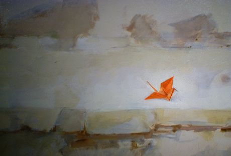 """""""Der Vogel"""": Detail aus einem Porträt des niederländischen Malers Nico Heilijgers"""